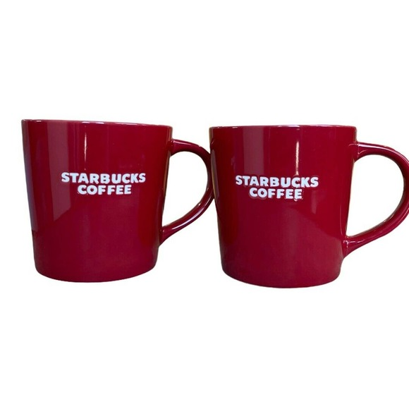 2010 Starbucks Coffee Mug~Set of 2~New Bone China